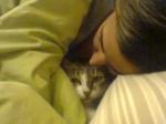 Dormindo com mamãe... sem palavras :)